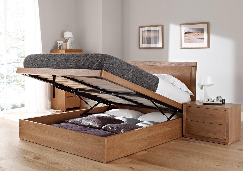 Groovy Arran Oak Ottoman Storage Bed King Size Bed Frame Only Dailytribune Chair Design For Home Dailytribuneorg