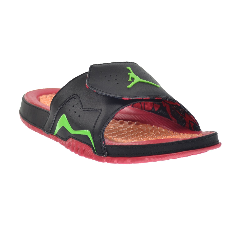 c7336308dedc Jordan Hydro VII Retro Mens  Slides Black Green Pulse-True Red-Bright  Mandarin 705467-016 (14 D(M) US)  Amazon.co.uk  Shoes   Bags