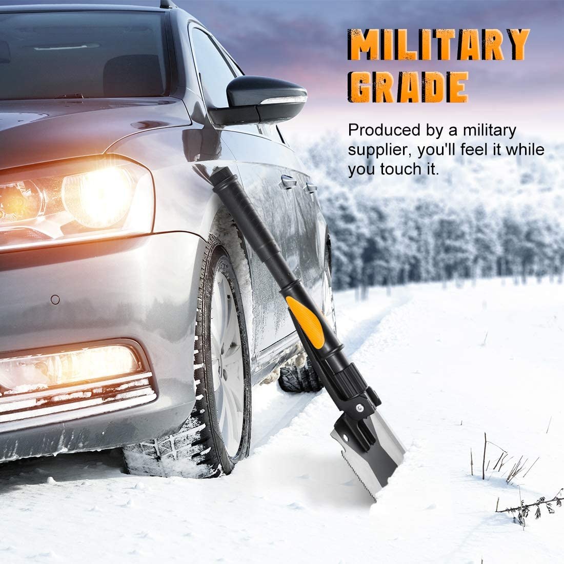 OKOOLCAMP Survival Camping Shovel Military Multifunctional Folding Shovel 15-28inch Heavy Duty Alloy Steel Tactical Shovel with Saw for Hiking, Backpacking, Gardening, Hunting, Car Emergency, Snow : Sports & Outdoors