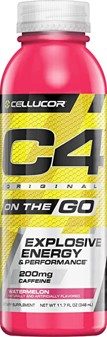 C4 On The Go >> Cellucor C4 On The Go Zero Sugar Pre Workout Drink Energy Drink Beta Alanine Watermelon 11 7 Fl Oz Pack Of 12
