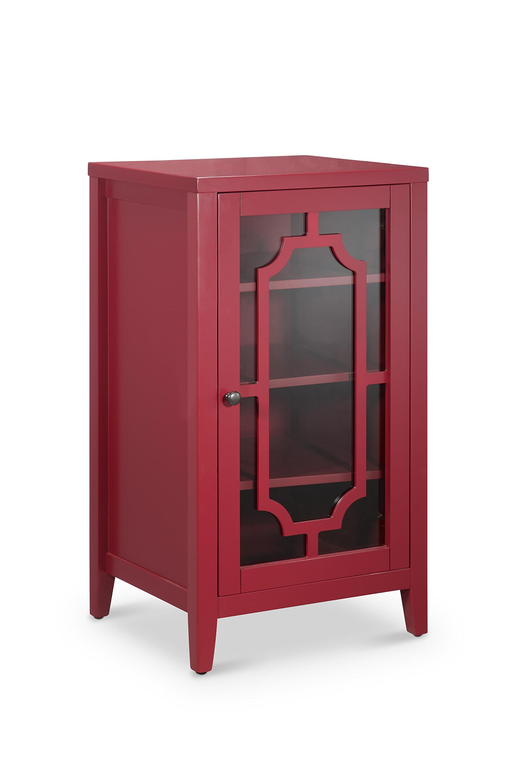 Acme Furniture ACME Fina Burgundy Wine Cabinet