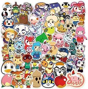 Animal Crossing Merchandise Stickers[50pcs], Vinyl Cartoon Decal for Laptop Bike Car Water Bottle Guitar Phone Case Motorcycle Cup Bumper Luggage Skateboard Graffiti, Best Gift for Kids,Children,Teen