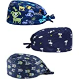 Nesson Surgical Scrub Cap Medical Doctor Bouffant Hat Nurse Cap Surgeons Cap with Sweatband for Womens Mens