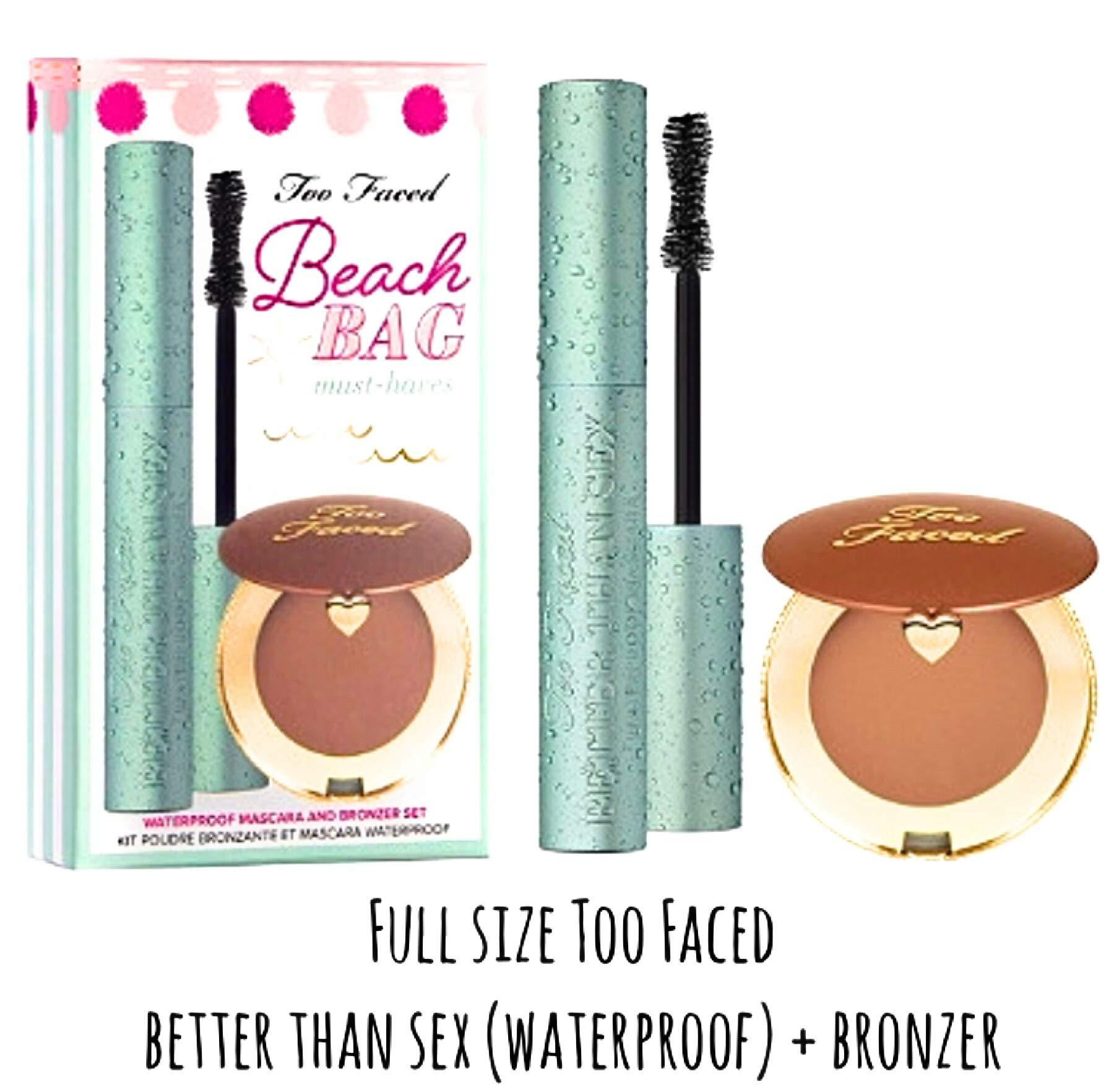 Too Faced Waterproof Better Than Sex Mascara Plus Bronzer Set Beach Bag Must Haves