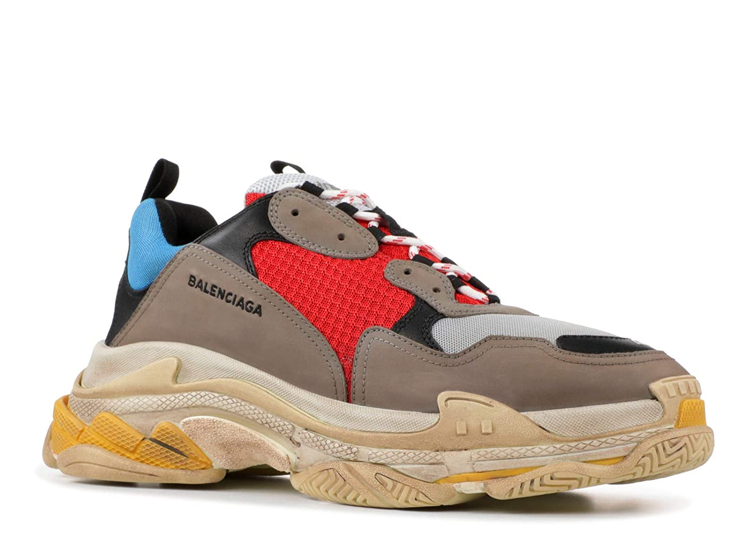 Buy Balenciaga Triple S Sneakers Grey Red Running Shoes For Men 41 Euro At Amazon In