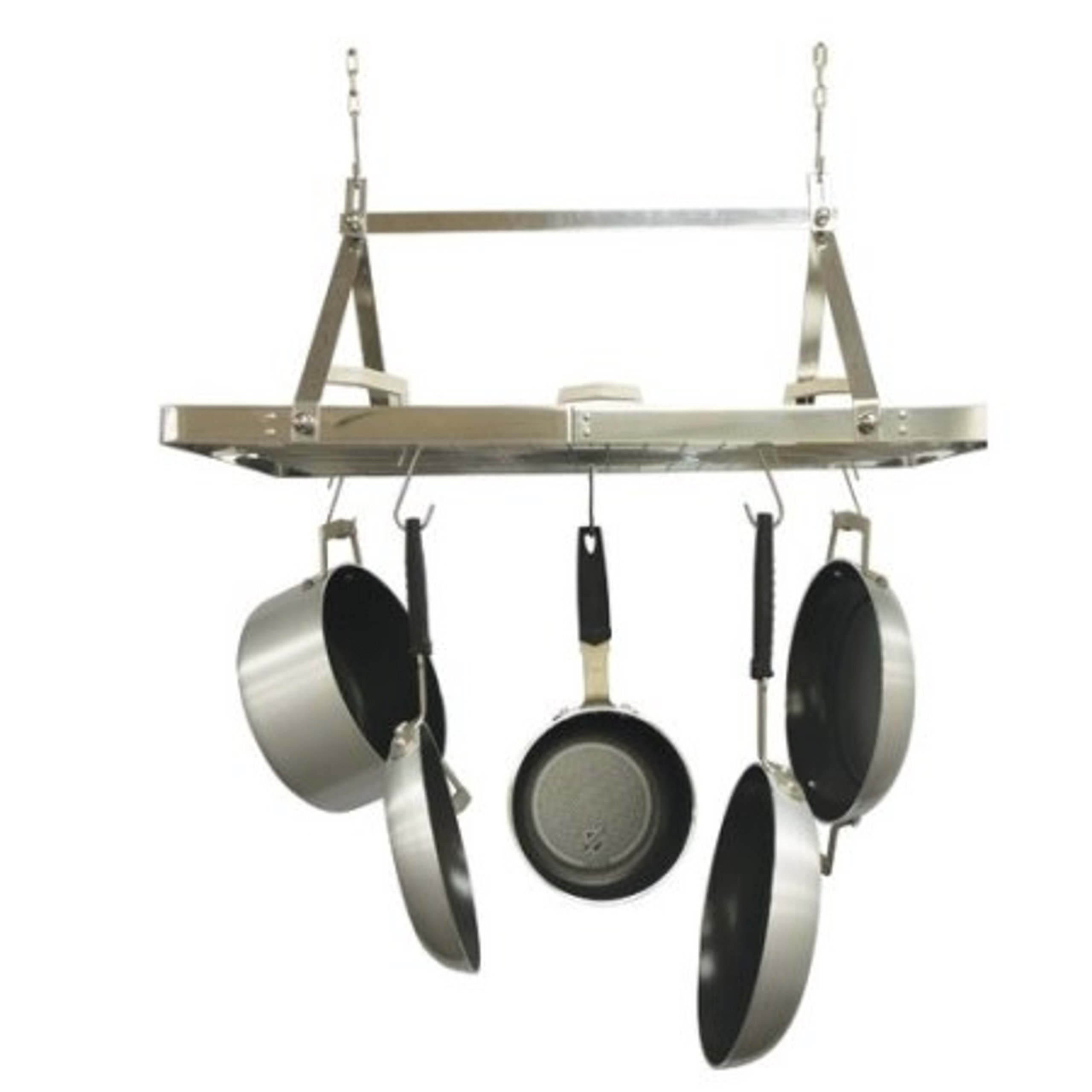 Stainless Steel Rectangle Shapped Metal Hanging Kitchen Pot Rack