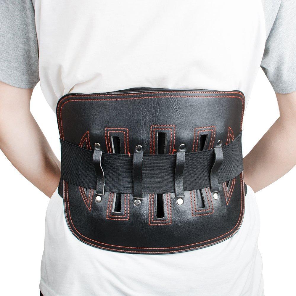 Denshine Health Care Lumbar Support Waist Brace Belts Adjustable Bodybuilding Waist Support Elastic Belt, S, 25.19-29.92inch