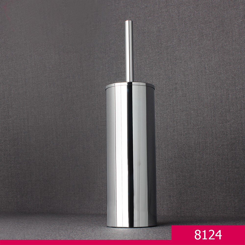 qinisi 304 Stainless Steel Toilet Brush and Holder for Bathroom Satin Nickel