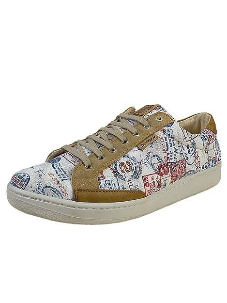 DESIGUAL® Hombre Diseñador Sneaker Zapatillas - ESTAMPA - Nueva Colección -45: Amazon.es: Zapatos y complementos