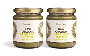 Sun and Seed – Organic Raw Nut Butter – Gluten Free and Keto Friendly – Ultra Healthy – Made With Only Raw Organic Nuts – Stone Ground (Hemp Seed, 2 Pack)