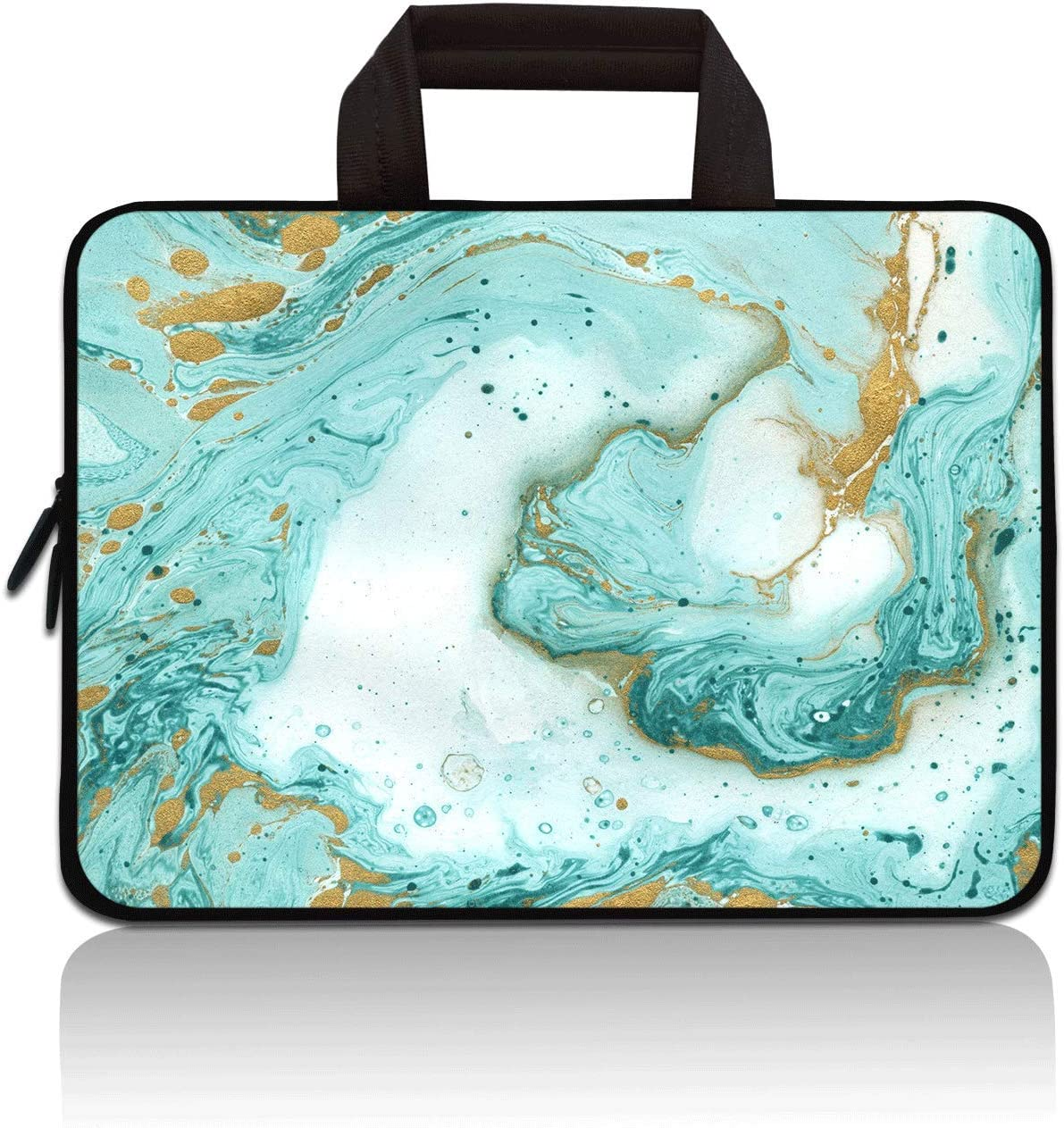 """11"""" 11.6"""" 12"""" 12.1"""" 12.5 Inch Laptop Carrying Bag Case Notebook Ultrabook Bag Tablet Cover Neoprene Sleeve Briefcase Bag Compatible with Samsung Google Acer HP DELL Asus(Vast Ocean)"""