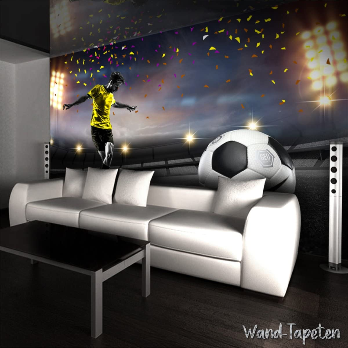 x 105cm 3-Bahne B H Papier peint photo mural papier peint photo mural 3d de stade de football KN-3547 XS 150cm