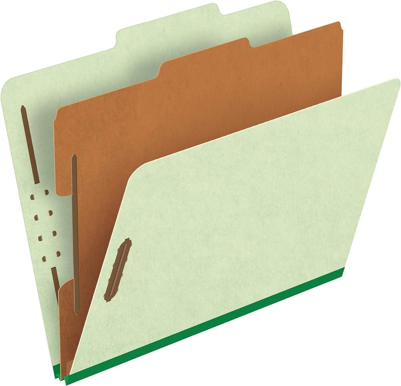Pendaflex Pressboard Classification Folders, Letter size, Apple Green, 10 per Box (1157G)
