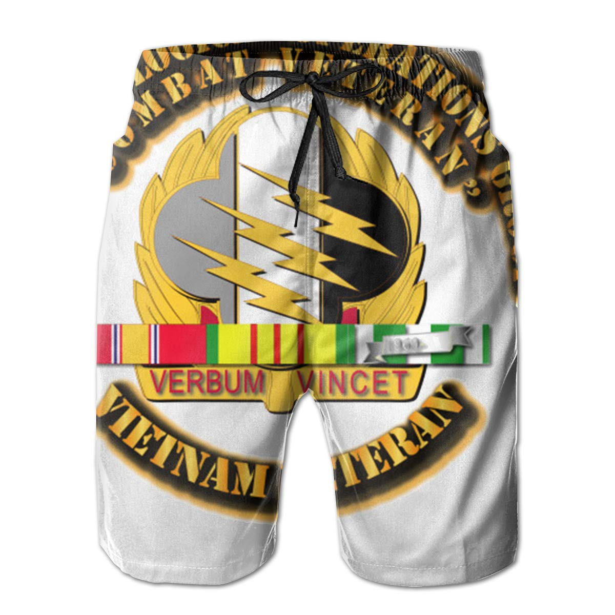 Reality And Ideals 4th Psychological Operations Group with SVC Ribbon Mens Swim Trunks Board Shorts