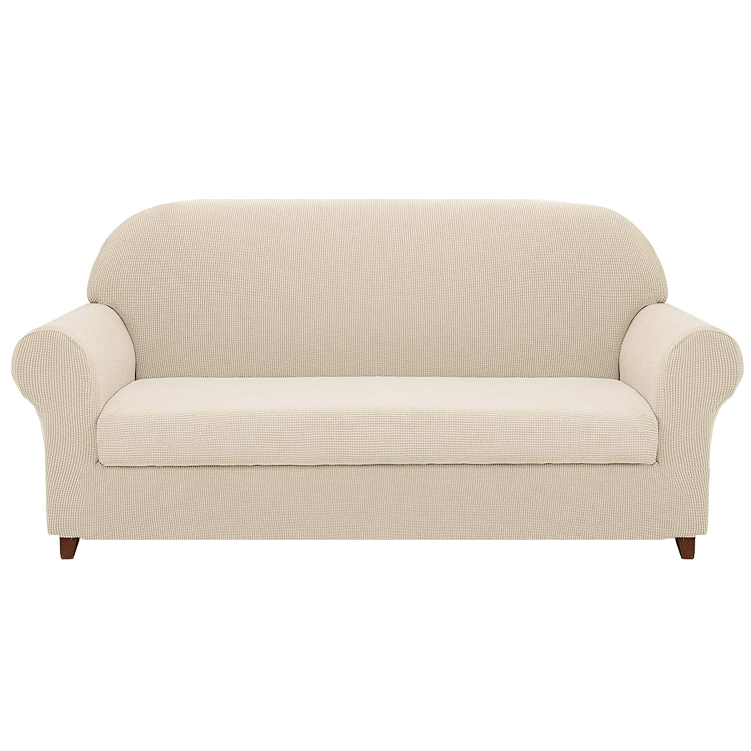 Amazon.com: Hokway 2-Piece Stretch Sofa Slipcover Spandex Couch ...