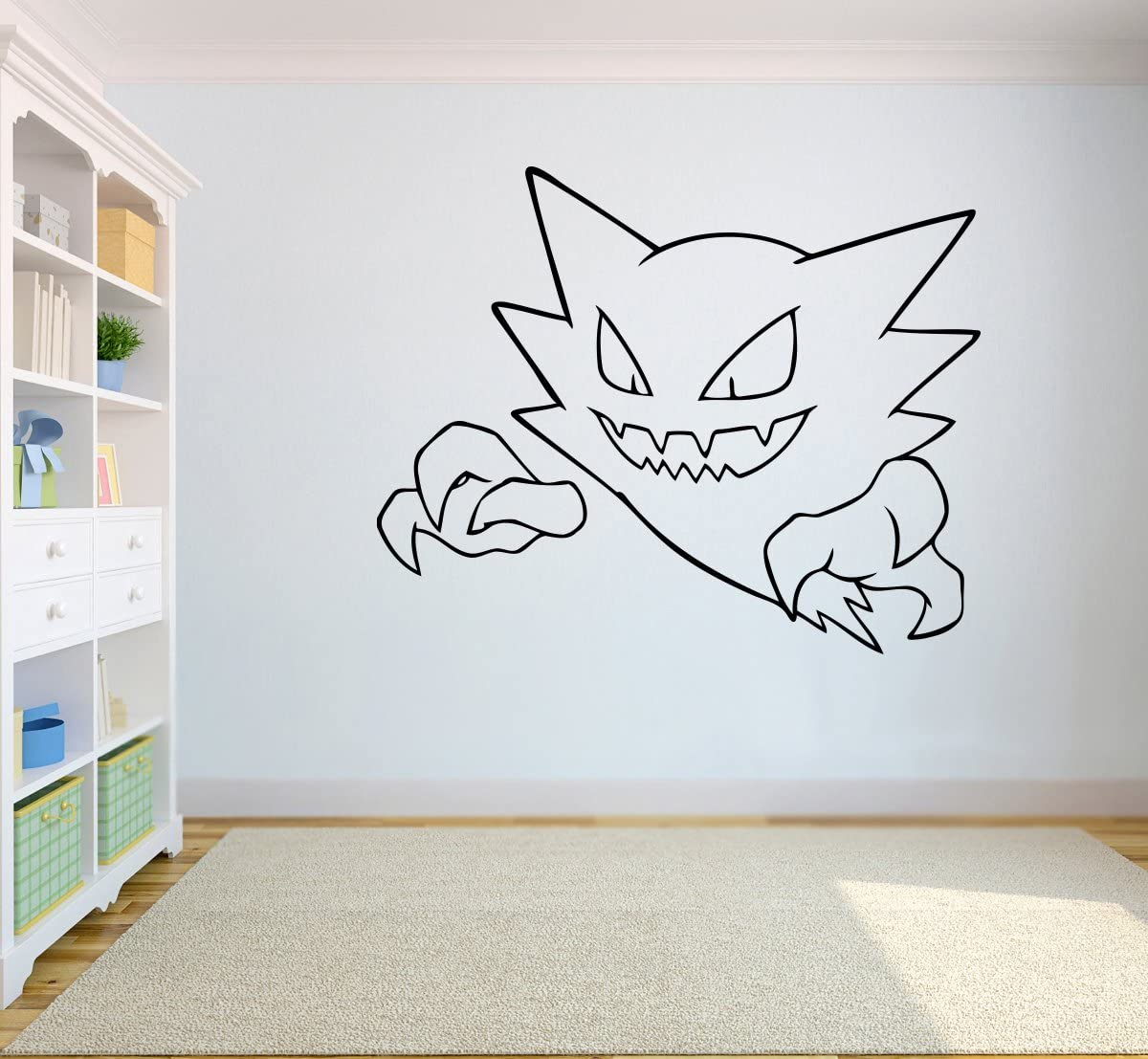 №093 Haunter Art Vinyl Sticker Pokemon GO Wall Mural Pokemon Wall Vinyl Decal Home Interior Decor Nursery Image 93