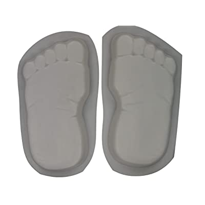 Huge 16 Inch Footprints Bare Feet Stepping Stone Concrete Mold Set 1260: Kitchen & Dining