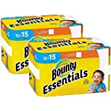 Bounty Essentials Full Sheet Paper Towels, 24 Large Rolls = 30 Regular Rolls, Packaging May Vary.