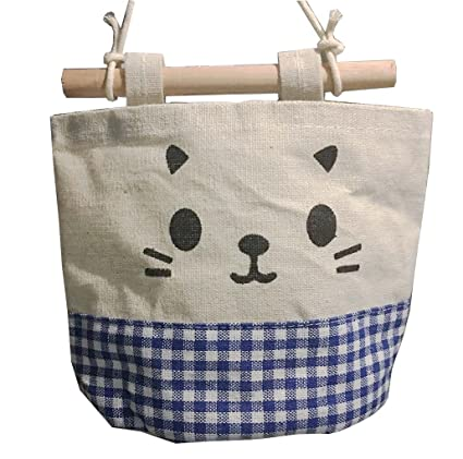 lumanuby Hanging bolsa algodón y lino único bolsillo bolsa ...