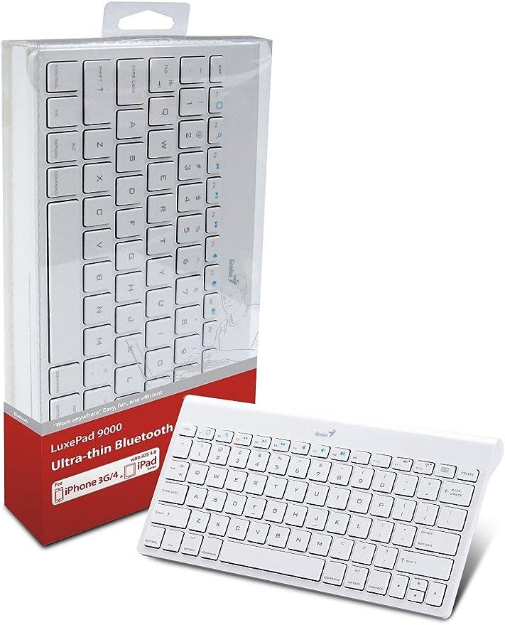 Genius LuxePad 9000 - Teclado QWERTY Español Blanco