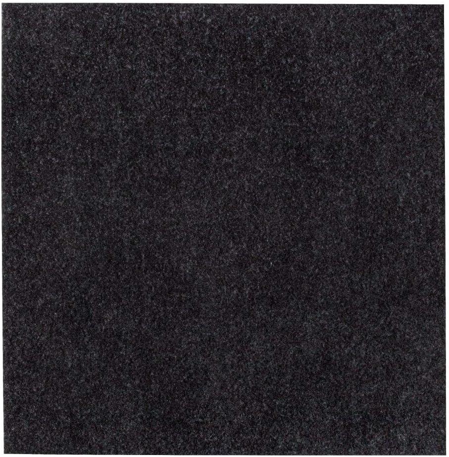 Gr/ö/ße:8 m/² Set andiamo Teppichfliesen selbstklebend Teppichboden Bodenbelag Nadelfilz Fliese 40 x 40 cm Farbe:Grau