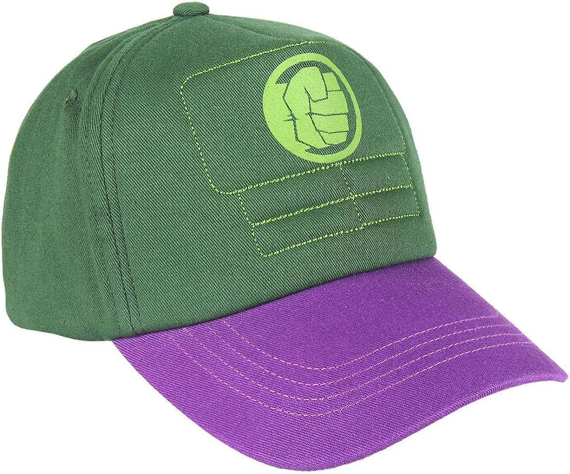 ARTESANIA CERDA Gorra Innovación Avengers Hulk, Verde (Verde Verde ...