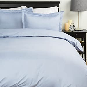 Sweet Home Collection Duvet Cover 1800 Thread Count 4 Pc Sheet Set, King, Aqua, 7 Piece