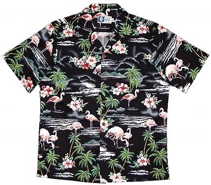 4cd23353 RJC Brand Flamingo Paradise Men's Hawaiian Shirt at Amazon Men's Clothing  store: