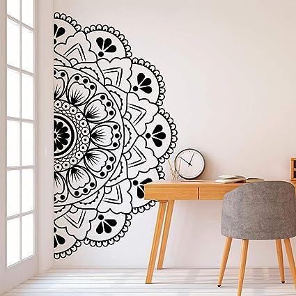 Wall Decal Mandala in Half Vinyl Wall Sticker Headboard ...