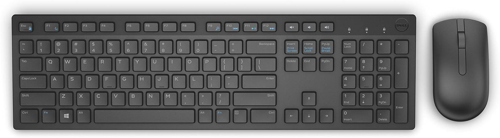 Dell Keyboard + Mouse Set Membrane 580-ADFT (USB 2.0; (US ...
