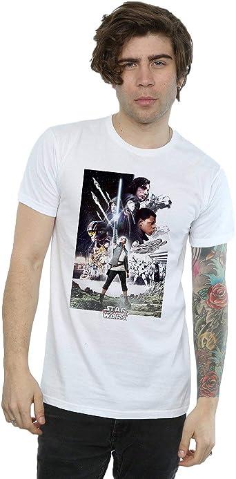 Star Wars Hombre The Last Jedi Character Poster Camiseta: Amazon.es: Ropa y accesorios