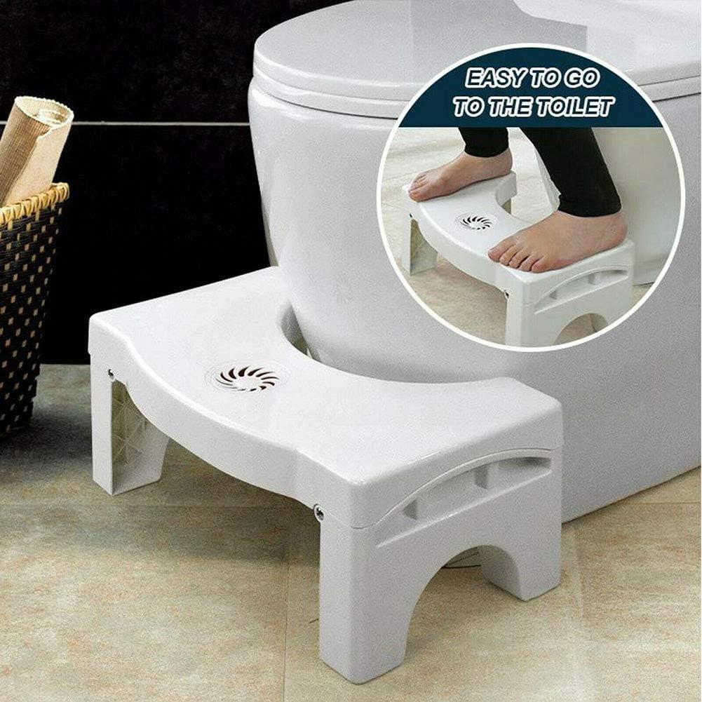 Monggood Umklappbar Multi-Funktions Toilette Stuhl Tragbar Step f/ür Heim Badezimmer