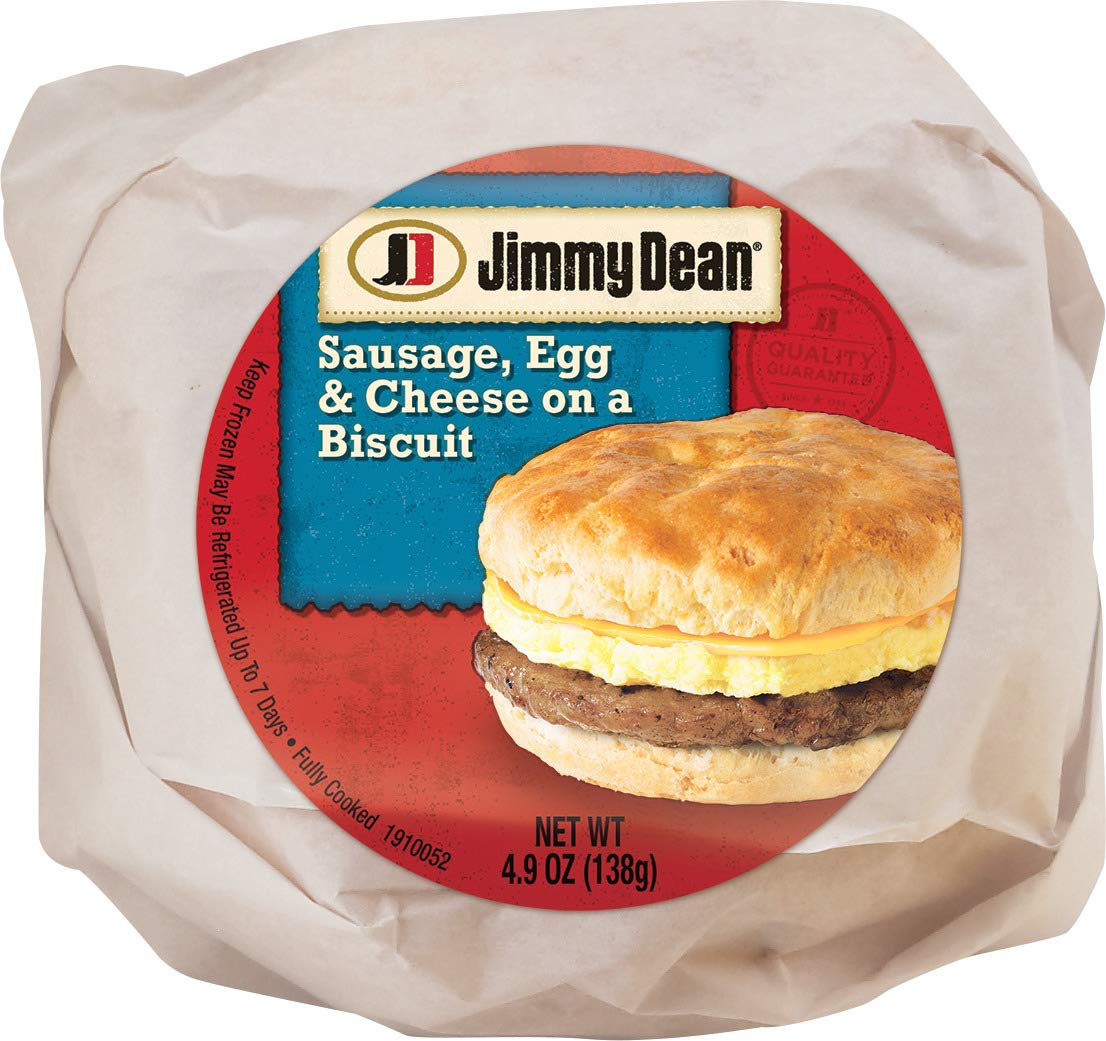 Jimmy Dean Sausage, Egg & Cheese Biscuit, 4.9 oz (24 Count)