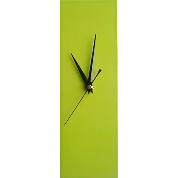 Contemporary-Slim-Lime-Green-Wall-Clock