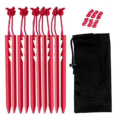 5Pcs Outdoor Hiking Camping Aluminum alloy Tent Peg Stakes Portable Hiking Camp/&