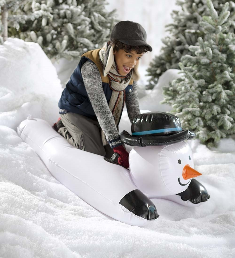 Inflatable Snowman Sled