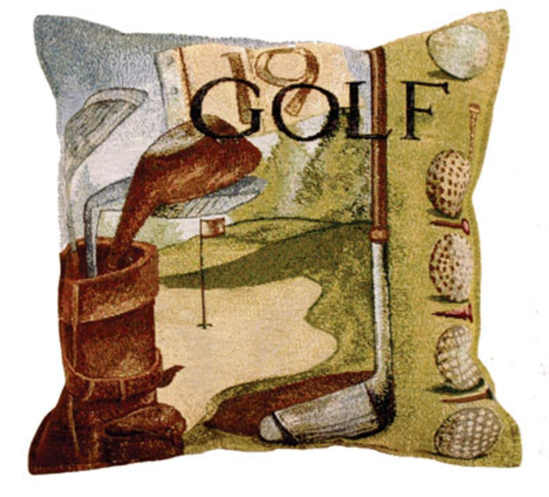 amazon com vintage golf golfing tapestry toss pillow usa made