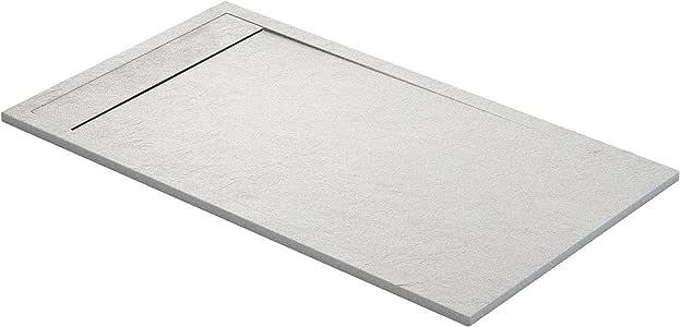Plato de ducha MERIDA en Resina con textura Pizarra. Acabado Metalizado. (90 x 90 cm, Plata): Amazon.es: Bricolaje y herramientas