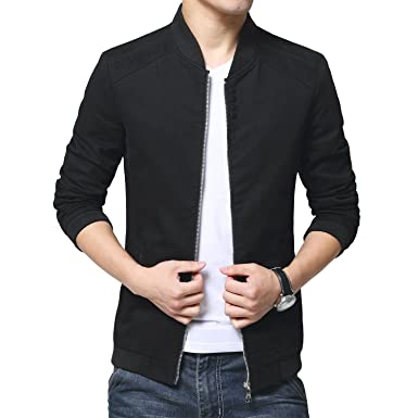 Womleys Mens Autumn Casual Bomber Jacket Coat Cotton Outerwear at ...
