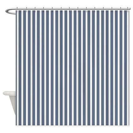 Lovingin Blue And White Vertical Stripes Shower Curtain