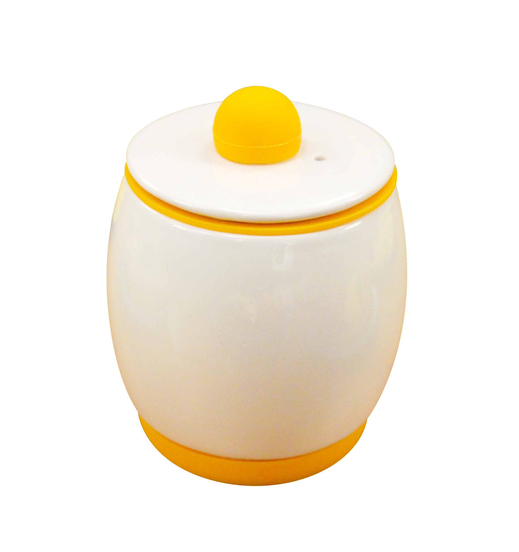 Allstar Innovations As Seen on TV Egg-Tastic Microwave Egg Cooker and Poacher for Fast and Fluffy Eggs, White/Orange