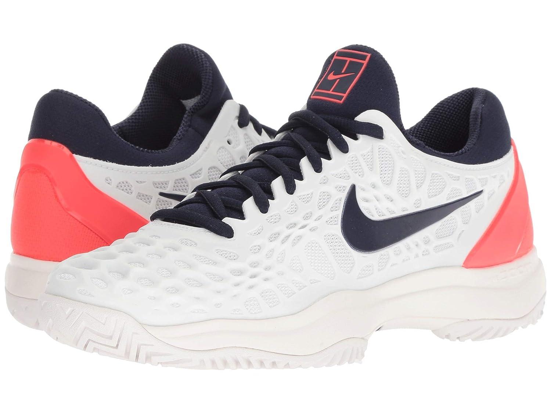 [NIKE(ナイキ)] メンズテニスシューズスニーカー靴 Zoom Cage 3 HC White/Blackened Blue/Bright Crimson 11.5 (29.5cm) D - Medium B07H8FPW6S