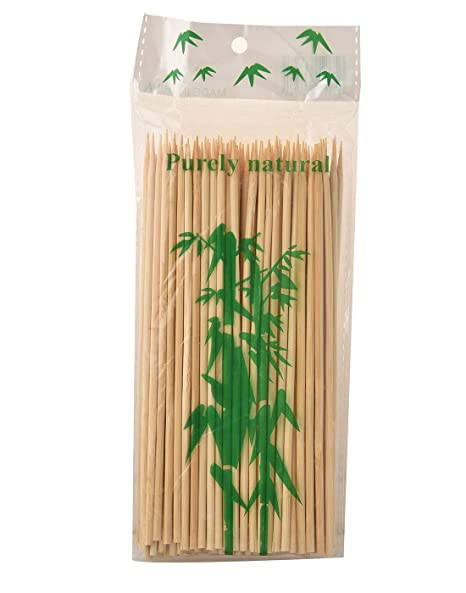 Prakritii Cultivating Green Bamboo Roasting Skewers/Kebab Sticks 6 Inches (Pack Of 100)