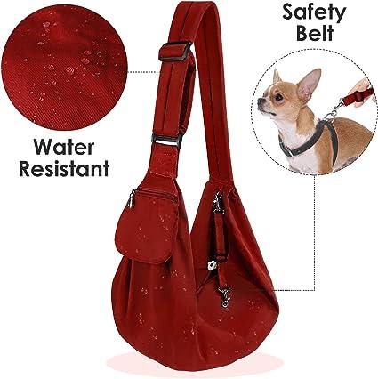Black Cat Pet Hand Free Carrier Shoulder Bag Adjustable Padded Shoulder Strap with Front Pocket Dog Carry for Tote Metro Outdoor HomeChi Dog Sling