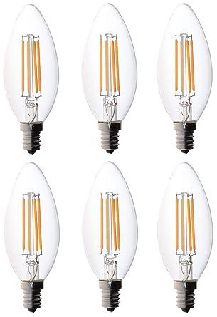 bioluz candelabro de filamentos led E12 Base bombillas LED de Alta eficiencia bioluz candelabro de filamentos