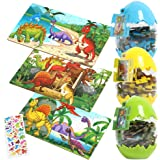 Dinosaur Jigsaw Puzzles for Kids Ages 4-8, 3 Pack 60 Pieces Puzzle with Dinosaur Easter Eggs Great for Surprise Gift…