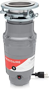 Frigidaire FF03DISPC1 1/3 HP Corded Garbage Disposer for Kitchen Sinks, Horsepower