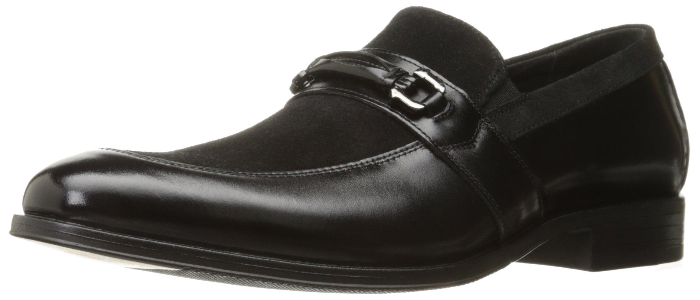 Stacy Adams Men's Selby Moc Toe Bit Slip-On Loafer, Black, 10 M US
