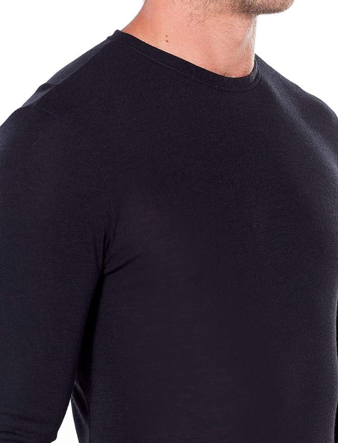 Hombre M Black Icebreaker Mens 175 Everyday LS Crewe Camiseta T/érmica para Hombre