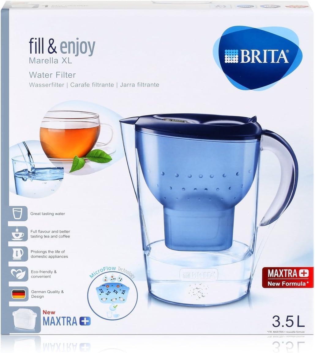filtre cartouches 3 carafes Brita Filtre à eau Marella XL blanc 3.5 L incl